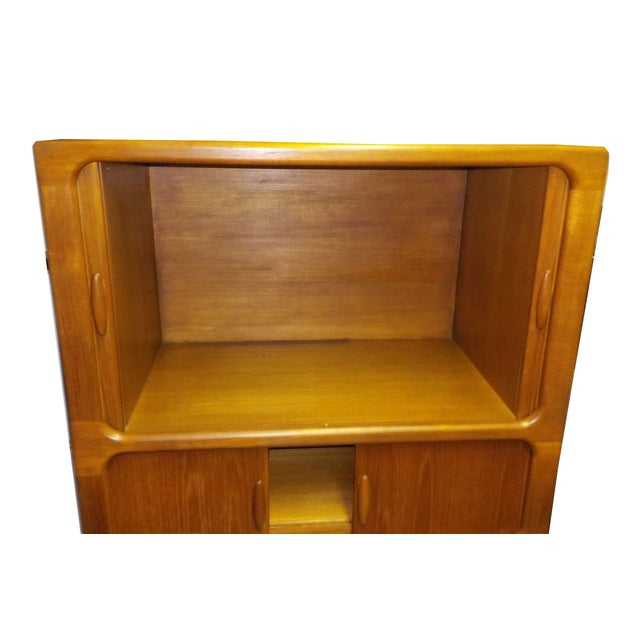 MCM Teak Cabinet With Tambour Doors by Dyrlund For Sale In Los Angeles - Image 6 of 8
