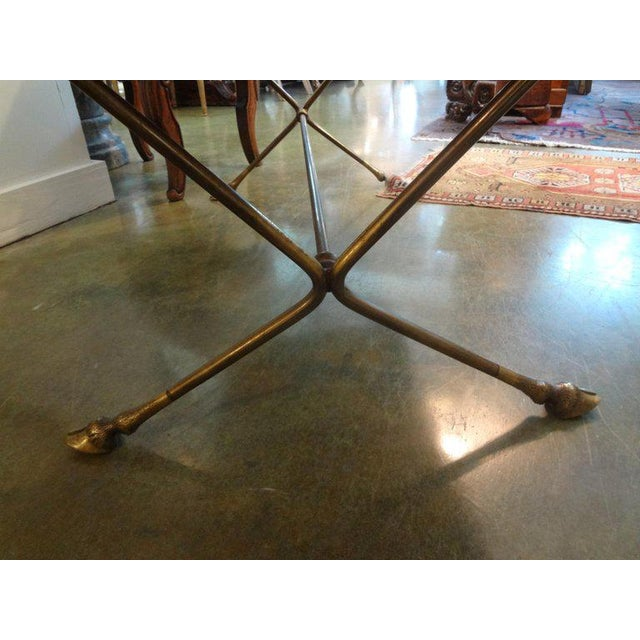 1940s French Rectangular Bronze Cocktail Table For Sale In Houston - Image 6 of 9