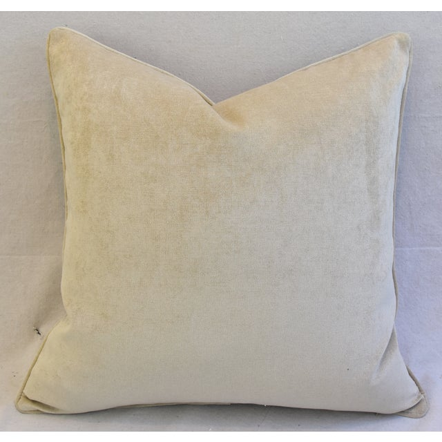 Custom Woodland Toile Deer & Velvet Pillows - a Pair - Image 9 of 10
