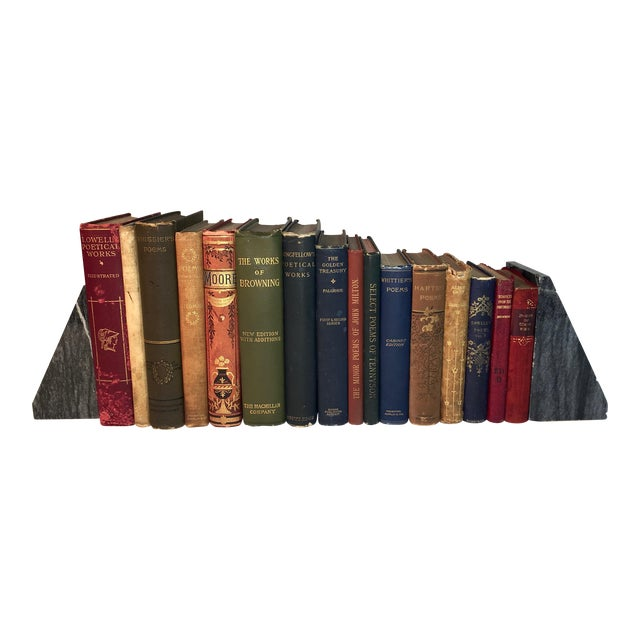 Collection of Antique Poetry Books - Set of 16 For Sale