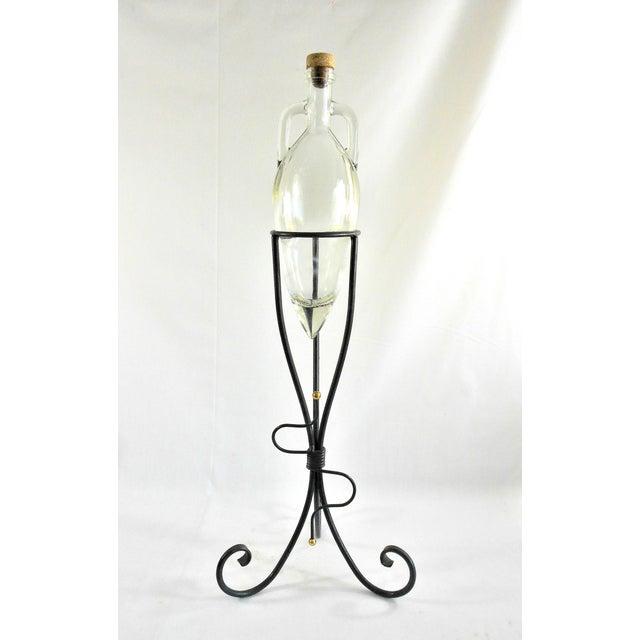 1970s Art Deco Shonfeld's USA Glass Vinegar Bottle For Sale - Image 11 of 11