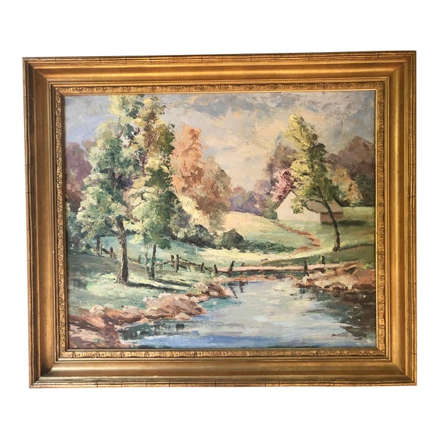 Mid-20th Century Landscape Oil Painting For Sale