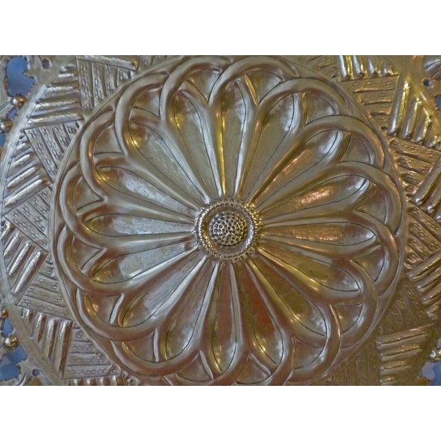 Italian Pierced Flower Brass Metal Wall Art - Image 3 of 7