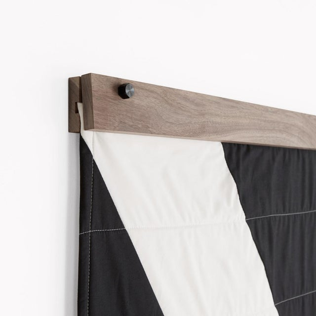 Louise Gray Throw Quilt Hanger: Walnut / Brass For Sale - Image 4 of 4