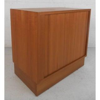 Mid-Century Modern Tambour Door Danish Cabinet Preview