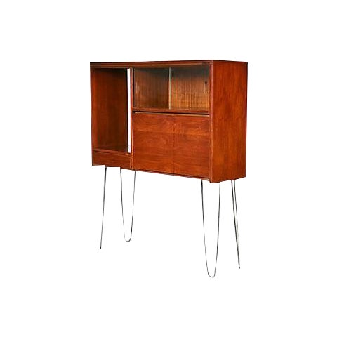 1960s Walnut Cabinet with Hairpin Legs - Image 1 of 6