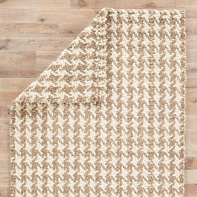 Jaipur Living Tracie Natural Geometric White/ Taupe Area Rug - 9′ × 12′ For Sale - Image 4 of 6