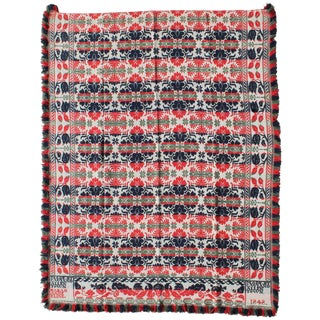 Coverlet Made by C.Wiand/Allentown , Pennsylvania Sarah Anne Kline and Others For Sale
