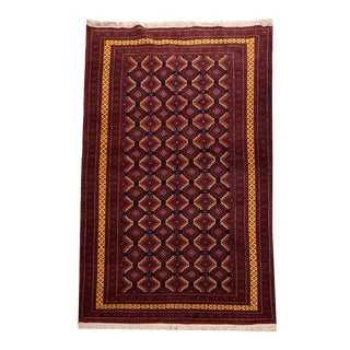 Pakistani Tribal Hand-Knotted Rug - 3′10″ × 6′2″ For Sale