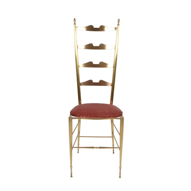 Italian Chiavari Bronze High Back Chairs, a Pair For Sale - Image 11 of 12