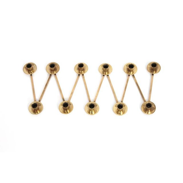 1950s Articulating Swedish Brass Candlestick Collection For Sale - Image 5 of 11