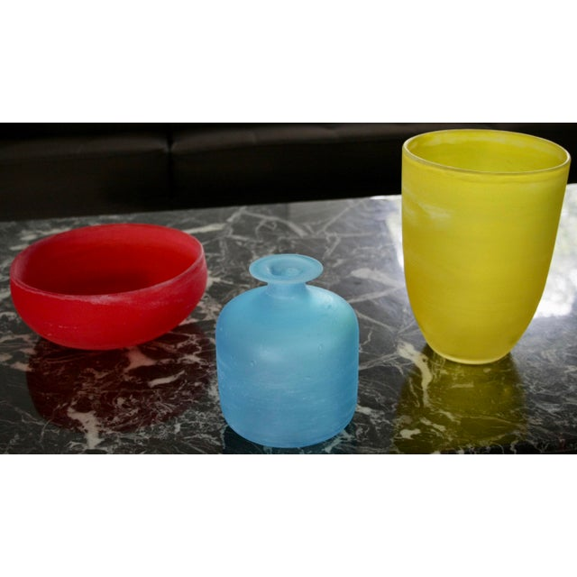 Gino Cenedese Murano Glass Vessels by Gino Cenedese - Set of 3 For Sale - Image 4 of 11