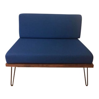 Vintage Mid Century Style Blue Chair For Sale