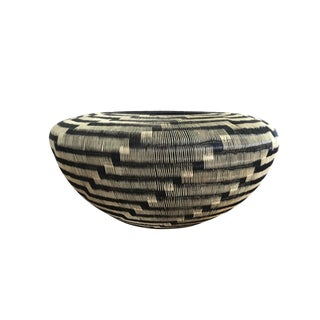 Contemporary Colombian Werregue Handwoven Basket For Sale