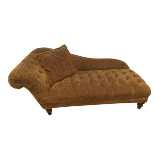 Vintage Domain Cheetah Velvet Roll Arm Chaise For Sale