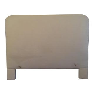 Muslin Covered Double Bed Headboard For Sale