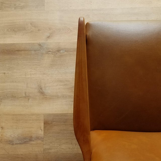 Mid 20th Century Italian Mid-Century Modern Leather Lounge Chairs With Rivets - a Pair For Sale - Image 10 of 13