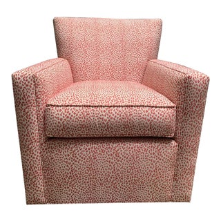 Modern Custom Ethan Allen Turner Swivel Chair For Sale