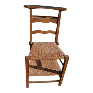 Prie Dieu Rustic Chair For Sale