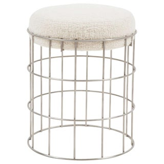 Thomas Stainless Steel Stool For Sale