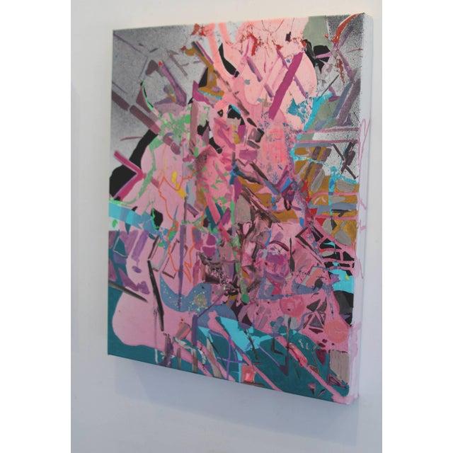 "Yasemin Kacka-Demirel Yasemin Kackar Demirel ""I Just Got Nothing"" Abstract Cityscape Architectural Painting For Sale - Image 4 of 6"
