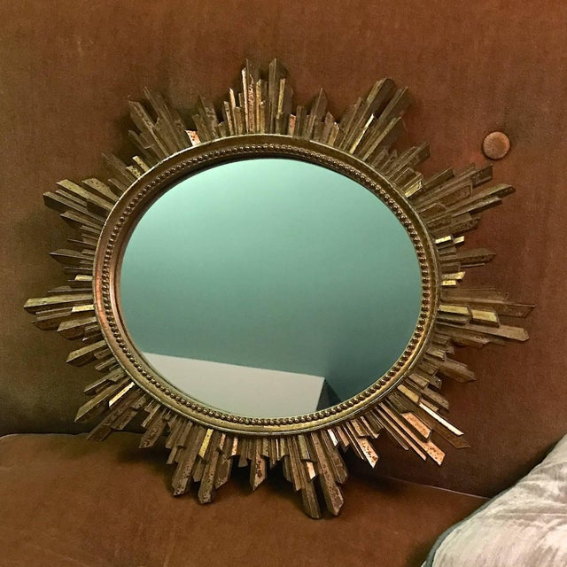 Hollywood Regency 1960s Hollywood Regency Revival Giltwood Wall Mirror For Sale - Image 3 of 6