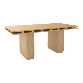 Contemporary 103 Dining Table in Oak and Yellow by Orphan Work, 2020 For Sale