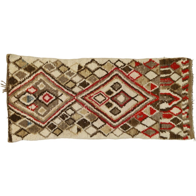 Berber Tribes of Morocco Moroccan Berber Azilal Rug With Tribal Style - 3′ × 6′7″ For Sale - Image 4 of 9