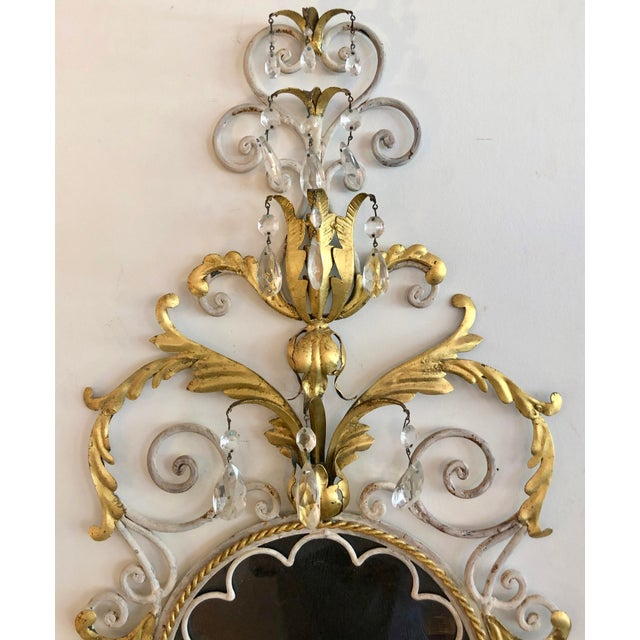 Large Pair Mid Century Italian Sconces For Sale - Image 10 of 13