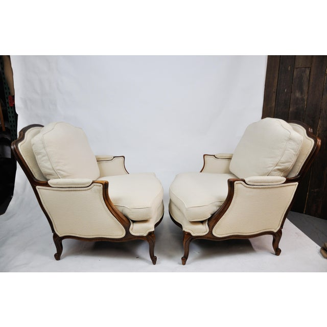 Pair of Vintage Queen Anne Wingback Chairs For Sale - Image 4 of 13