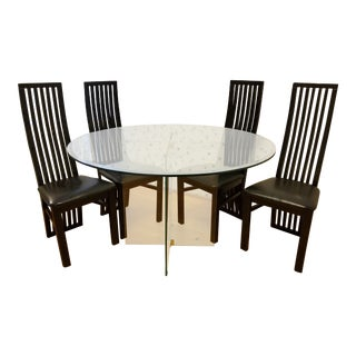Modern CE. Furniture Glass Dining Set - Set of 5