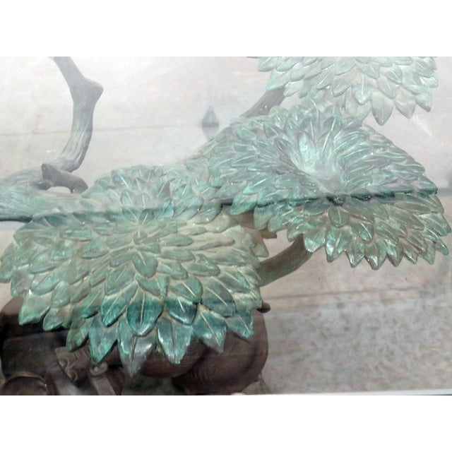 Metal Late 20th Century Sculptural Glass Top Center Table For Sale - Image 7 of 12