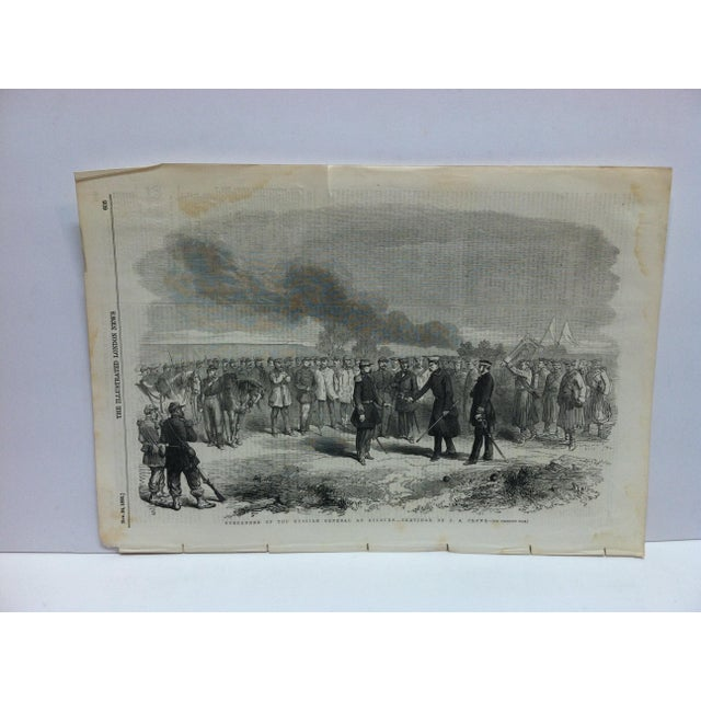 "Mid 19th Century 1855 Antique ""Surrender of the Russian General at Kinburn"" The Illustrated London News Print For Sale - Image 5 of 5"