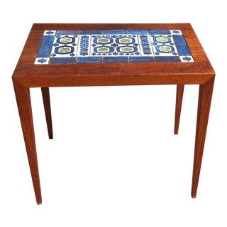 Danish Modern Severin Hansen Rosewood Tenera Tile Top Table For Sale