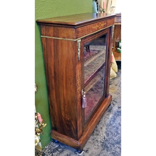 19c French Louis XVI Style Vitrine For Sale - Image 11 of 13