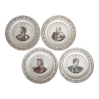 Vintage French Emperor Plates, For Sale