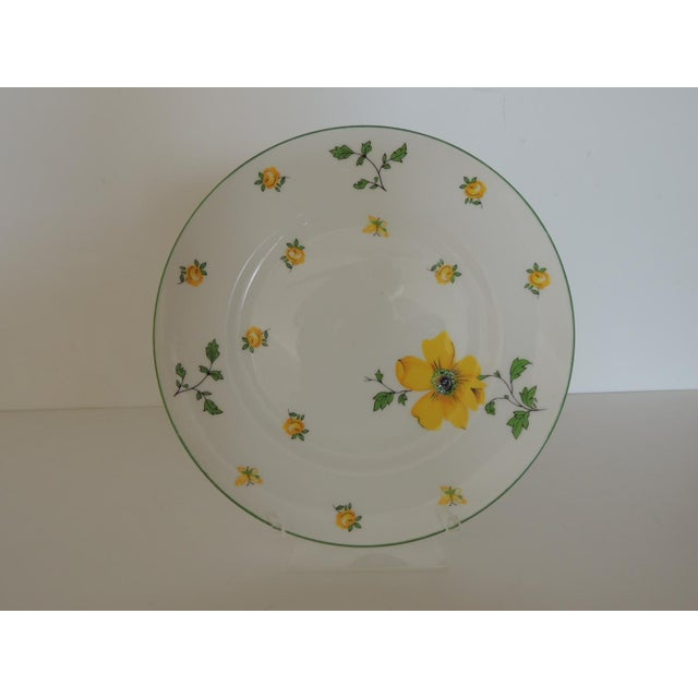 English Royal Victoria English White and Yellow Bone China Dessert Plate For Sale - Image 3 of 6