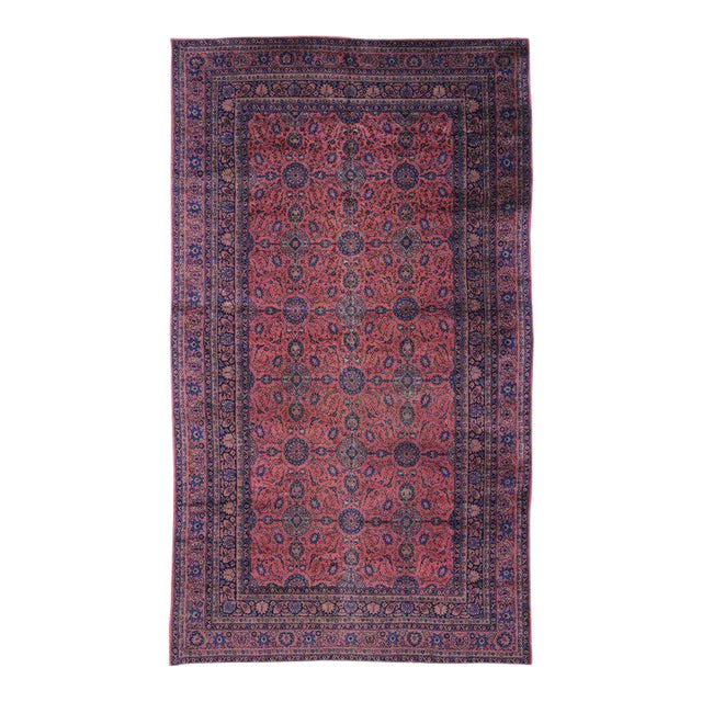 Jewel-Tone Antique Turkish Sparta Gallery Rug For Sale