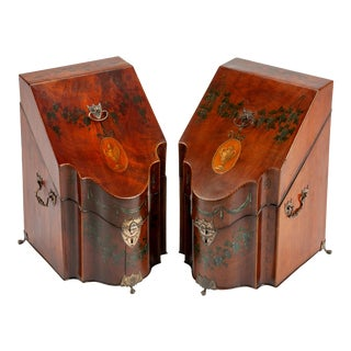 George III Mahogany Stationery Boxes - a Pair For Sale