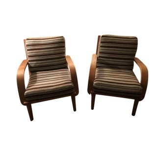 Conant Ball American Modern Armchairs - A Pair For Sale