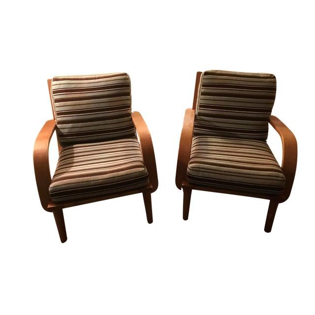 Conant Ball American Modern Armchairs - A Pair For Sale