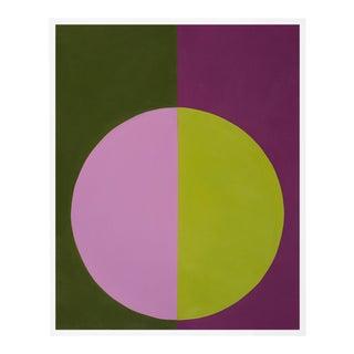 """Violet & Green Forever"" Xs White Framed Print by Stephanie Henderson For Sale"