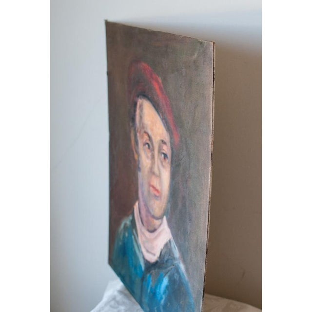 Vintage Gent Sailor Oil Painting on Board - Image 4 of 4