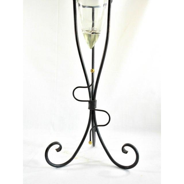 1970s Art Deco Shonfeld's USA Glass Vinegar Bottle For Sale - Image 10 of 11