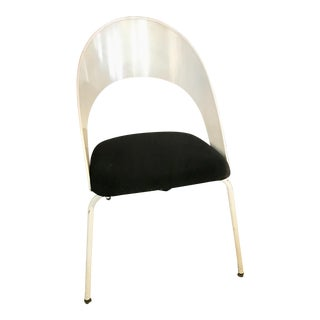 Vintage White Stackable Chair (5 Available) For Sale