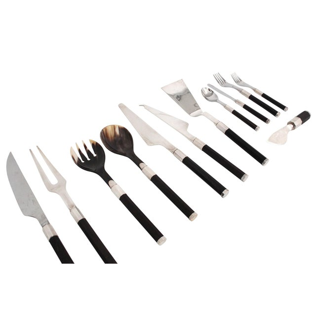 1970s Afra and Tobia Scarpa for San Lorenzo Studio Silver Flatware - 14 Pc. Set For Sale - Image 5 of 13