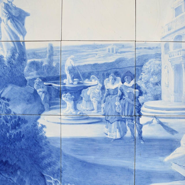 Rare Delft Tile Mosaic - Image 2 of 7