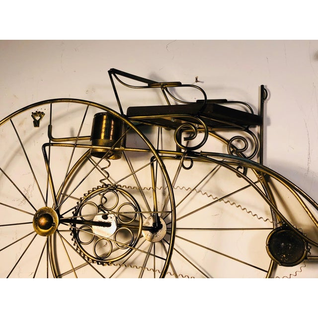 1980s Large Scale Curtis Jere Bicycle Wall Sculpture For Sale - Image 5 of 10