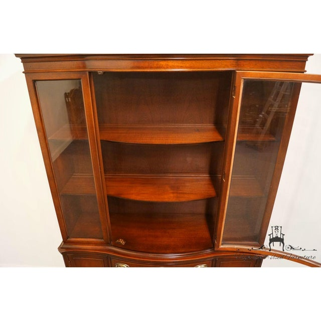 Late 20th Century 20th Century Traditional Bassett Furniture Old Shirley Collection Bow Front China Display Cabinet For Sale - Image 5 of 13