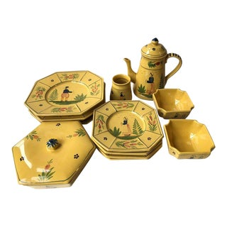 Cantagalli Italian Firenze Majolica Serving Dishes - Set of 15